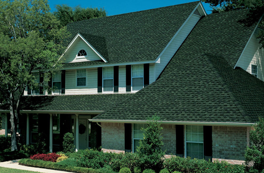 GAF Timberline Ultra HD Hunter Green House