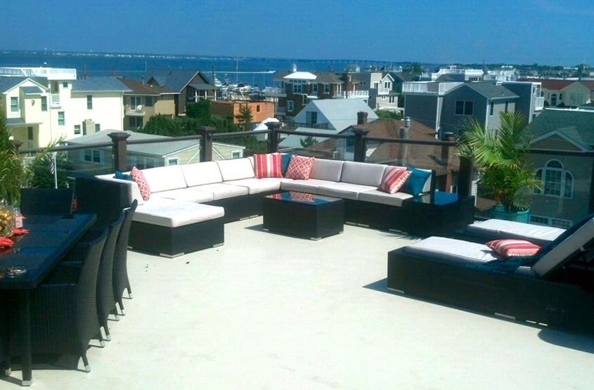 custom home coastal rooftop deck mercer county nj
